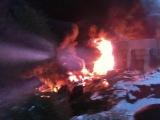 Пожар на хлебозаводском переулке ( дублёр курортного проспекта )